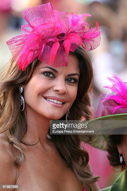 Maria Jose Suarez attends the wedding of Pastora Soler and Francis Vinolo on October 17 2009 in Seville Spain