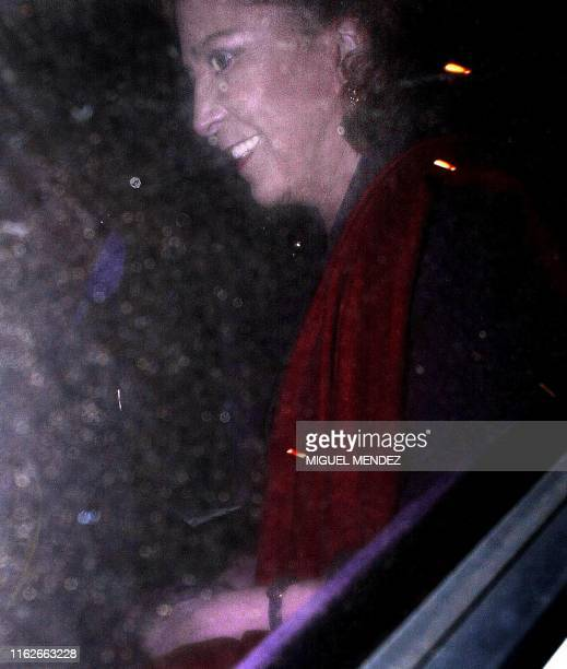 Maria Julia Alsogaray former secretary of state leaves the court of Comodoro Py in a car with polarized glass in Buenos Aires Argentina 14 June 2001...