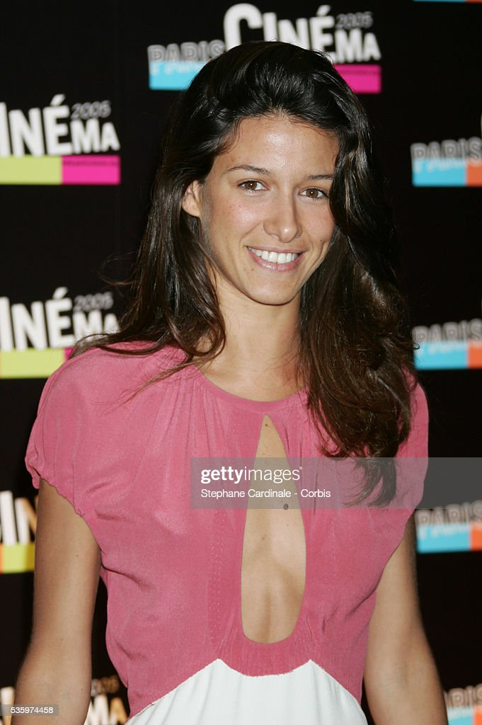 Maria Jurado attends the Paris Film Festival premiere of the movie 'L'Avion.'