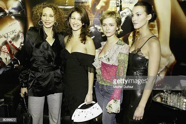 Maria Jurado Marisa Berenson Claire Borotra and Linda Hardy attend the Christian Dior ReadyToWear Fall/Winter 2004/2005 fashion collection March 3...
