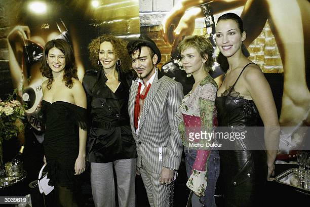 Maria Jurado Marisa Berenson Designer John Galliano Claire Borotra and Linda Hardy attend the Christian Dior ReadyToWear Fall/Winter 2004/2005...