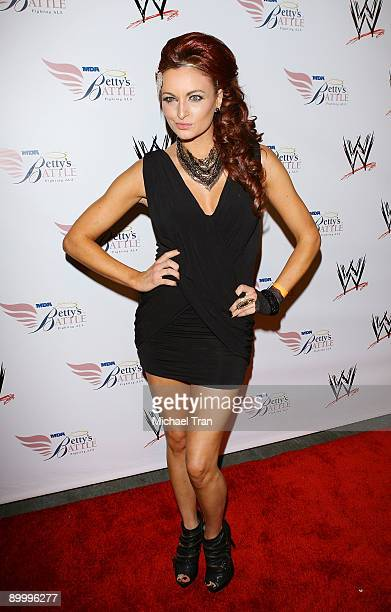 Maria Kanellis arrives to WWE's Summer Slam Kickoff Party held at h.wood on August 21, 2009 in Hollywood, California.