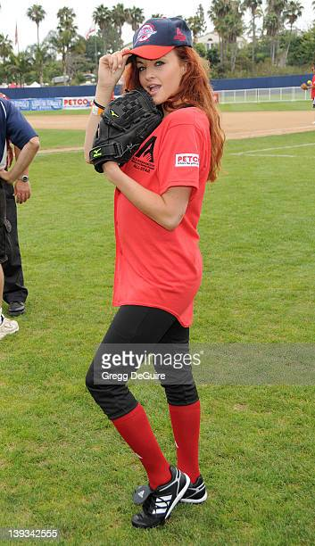 Maria Kanellis at the Steve Garvey Celebrity Softball Game for ALS Research at Pepperdine University's Eddy D Field Stadium on July 10 2010 in Malibu...