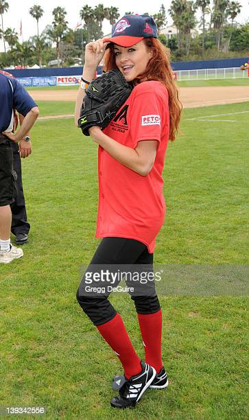 Maria Kanellis at the Steve Garvey Celebrity Softball Game for ALS Research at Pepperdine University's Eddy D. Field Stadium on July 10, 2010 in...