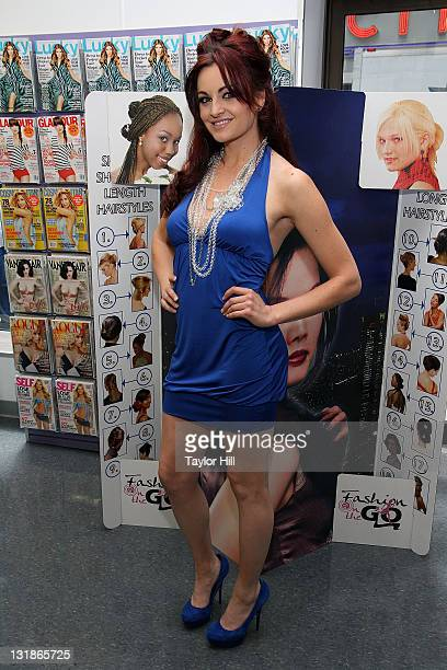 Maria Kanellis attends FashionOnTheGo hair styling services celebration at Duane Reade on May 6 2011 in New York City
