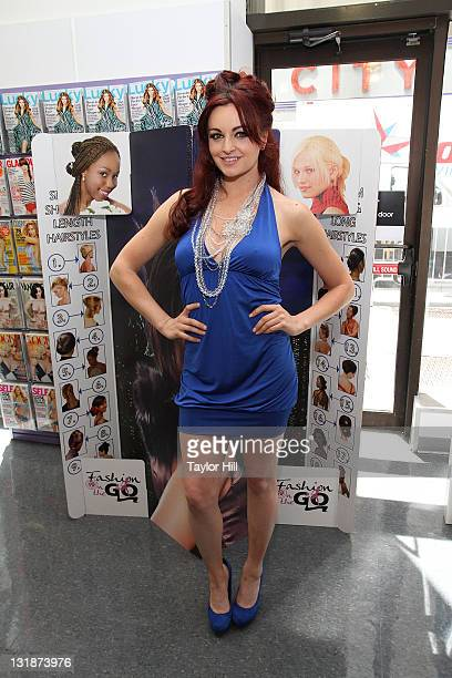 Maria Kanellis attends Fashion-On-The-Go hair styling services celebration at Duane Reade on May 6, 2011 in New York City.