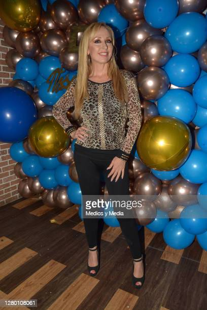 Maria Karunna poses for a photo during the red carpet for the DG Aesthetics and Medspa 4th Anniversary celebration on October 13 2020 in Mexico City...