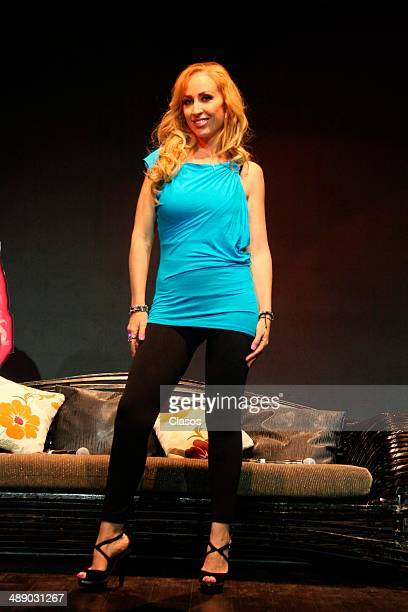 Maria Karunna poses for photos during the presentation of the new show Tributo a las Grandes Divas on May 08 2014 in Mexico City Mexico