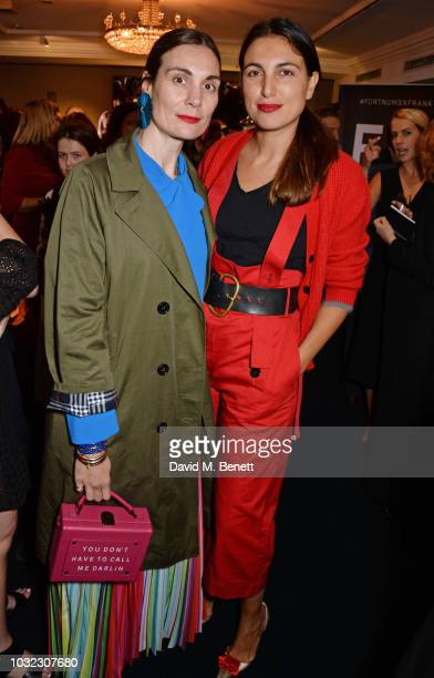 Maria Kastani and Federica Fanari attend a drinks reception to celebrate the launch of the third annual Fortnum's x Frank exhibition at Fortnum Mason...