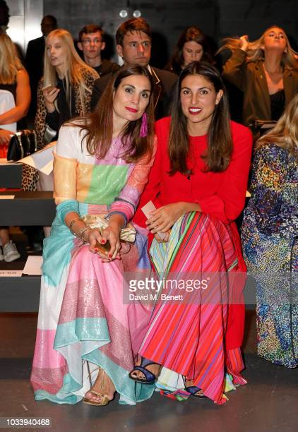 Maria Kastani and Federica Fanari attend Mary Katrantzou SS19 show production by Family Limited on September 15 2018 in London England