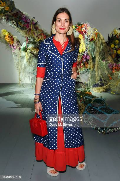 Maria Kastani attends the Fyodor Golan front row during London Fashion Week September 2018 on September 15 2018 at BFC Show Space in London England