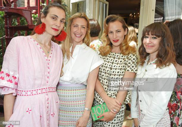Maria Kastani Georgina Cohen Charlotte Dellal and Annie Morris attend a lunch to celebrate Veuve Clicquot by Charlotte Olympia at Mark's Club on June...