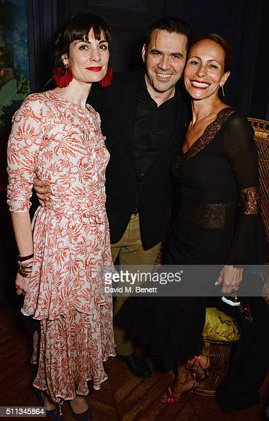 Maria Kastani Roland Mouret and Andrea Dellal attend as James Gager Senior Vice President Group Creative Director of MAC Cosmetics and Charlotte...