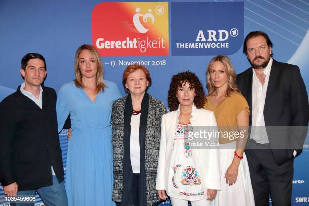 Maria Ketikidou Alwara Hoefels Imogen Kogge Christoph Bach Anneke Kim Sarnau and Charly Huebner attend the photocall for ARD theme week...