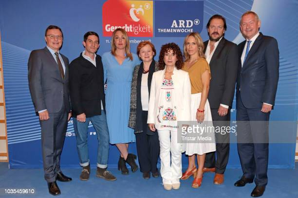 Maria Ketikidou Alwara Hoefels Imogen Kogge Christoph Bach Anneke Kim Sarnau Charly Huebner Lutz Marmor and Volker Herres attend the photo call for...
