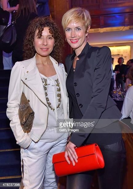 Maria Ketikidou and Dorothea Schenck attend the Studio Hamburg Nachwuchspreis 2015 at Thalia Theater on June 23 2015 in Hamburg Germany