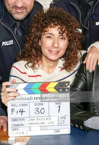 Maria Ketikidou attends a photo call to mark the thirtieth season of the TV show 'Grossstadtrevier' on March 17 2016 in Hamburg Germany