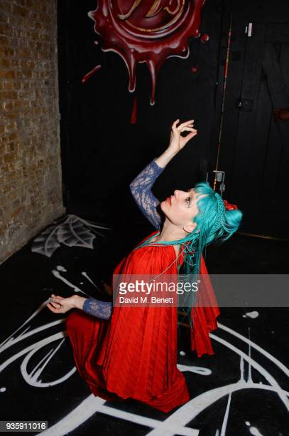 Maria Kimatica attends The Perfumer's Story evening of Scentsory delights hosted by Aures London Azzi Glasser at Sensorium on March 21 2018 in London...