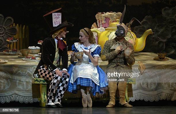 Maria Kochetkova Ivan Dinev and Yosvani Ramos in the ENO's production of Alice In Wonderland