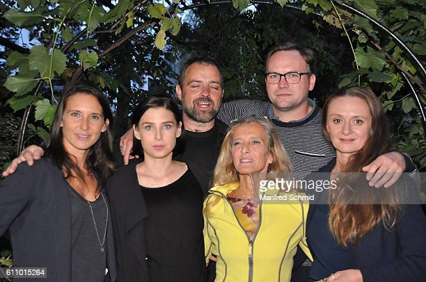 Maria Koestlinger Martina Ebm Juergen Maurer Kathrin Zechner Thomas Stipsits and Gerti Drassl pose during a photocall for the 3rd season of the tv...
