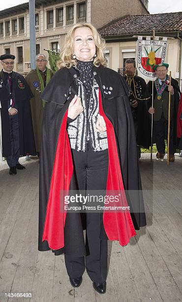 Maria Kosty is named 'Lady of the Order of the Sabadiego de Norena' on April 21 2012 in Asturias Spain