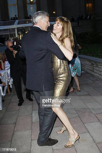 Maria Koteneva Dancing With Alexander Graf Von Hardenberg When farewell party The Ambassador Of The Russian Federation In Russian Palais Unter Den...