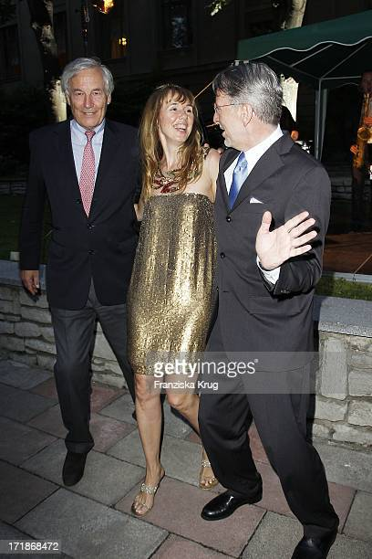 Maria Koteneva With Alexander Graf Von Hardenberg And Andreas Marx When farewell party The Ambassador Of The Russian Federation In Russian Palais...