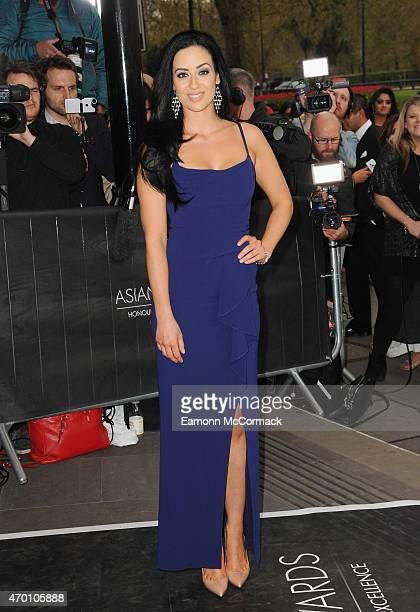 Maria Kouka attends The Asian Awards 2015 at The Grosvenor House Hotel on April 17 2015 in London England