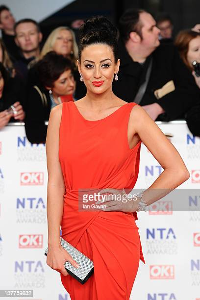 Maria Kouka attends the National Television Awards 2012 at the 02 Arena on January 25 2012 in London England
