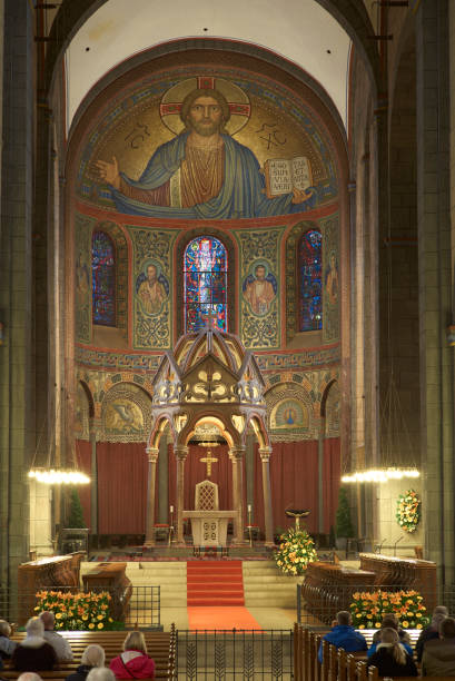 Maria Laach abbey, monastery church, Laacher Münster, absis