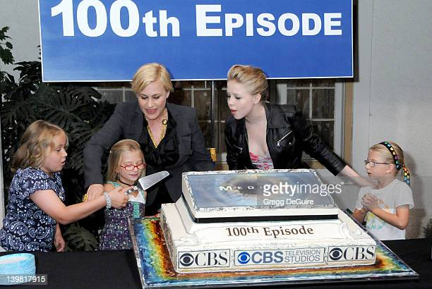 Maria Lark Madison Carabello Sofia Vassilieva Miranda Carabello and Patricia Arquette celebrate the 100th Episode of Medium at Raleigh Studios in...
