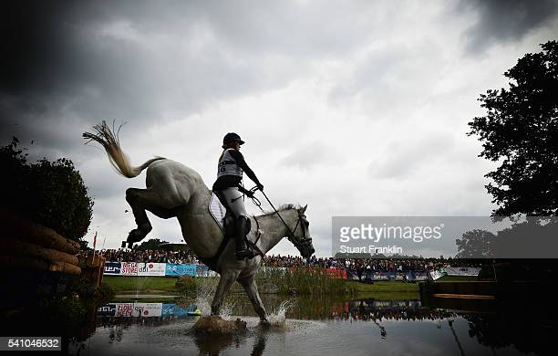 Maria Lena Weseloh of Germany riding Steeling Time jump during the cross country section of the Messmer Trophy Luhmuhlen on June 18 2016 in Luhmuhlen...