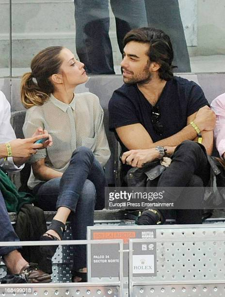 Maria Leon and Diego Osorio attend the Mutua Madrid Open tennis tournament at La Caja Magica on May 9 2013 in Madrid Spain