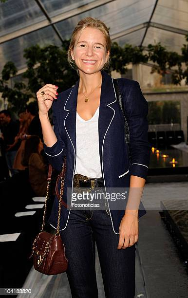 Maria Leon attends Alvarno fashion show at the Villamagna Hotel on September 16, 2010 in Madrid, Spain.