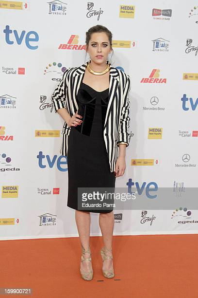 Maria Leon attends Jose Maria Forque awards photocall at Canal theatre on January 22 2013 in Madrid Spain