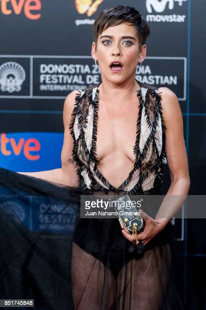 Maria Leon attends 'Submergence' premiere during 65th San Sebastian Film Festival on September 22 2017 in San Sebastian Spain