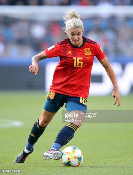 Maria Leon of Spain controles the ball during the 2019 FIFA Women's World Cup France group B match between Spain and South Africa at on June 08 2019...