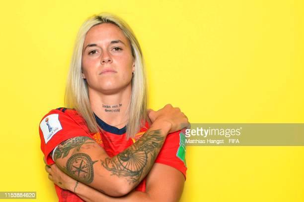 Maria Leon of Spain poses for a portrait during the official FIFA Women's World Cup 2019 portrait session at Hotel Barriere Le Normandy on June 05...