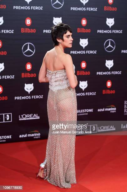 Maria Leon on the red carpet during the Feroz Awards 2019 on January 19 2019 in Bilbao Spain