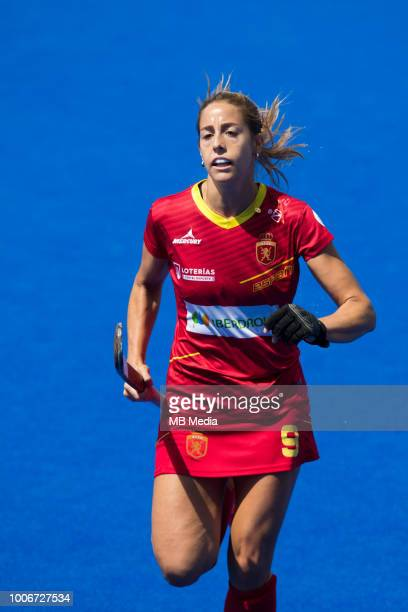 Maria Lopez of Spain during the Pool C game between Spain and Germany of the FIH Womens Hockey World Cup at Lee Valley Hockey and Tennis Centre on...