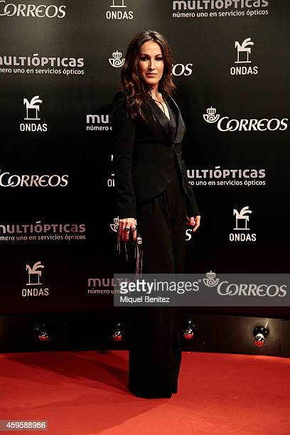 Maria Lucia Sanchez Benitez aka Malu poses during a photocall the 61st Ondas Awards 2014 at the Gran Teatre del Liceu on November 25 2014 in...