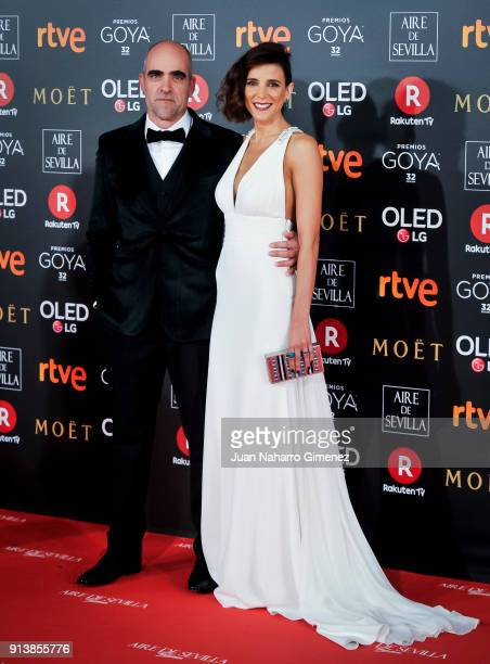 Maria Luisa Mayol and Luis Tosar attend Goya Cinema Awards 2018 at Madrid Marriott Auditorium on February 3 2018 in Madrid Spain