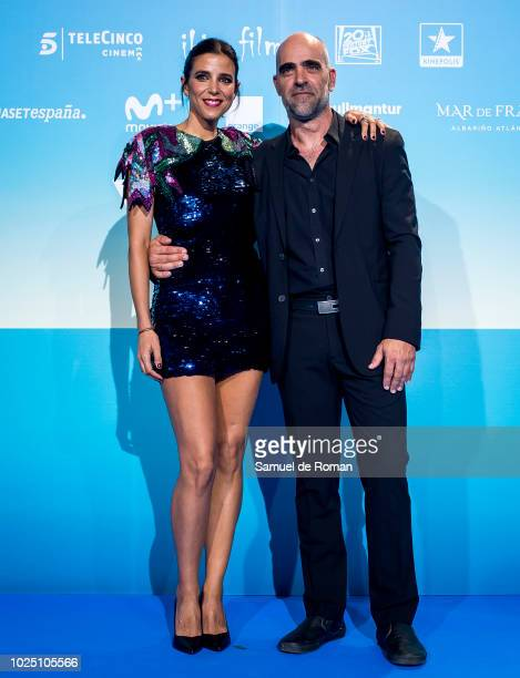 Maria Luisa Mayol and Luis tosar attend the 'Yucatan' premiere at Kinepolis cinema on August 29 2018 in Madrid Spain