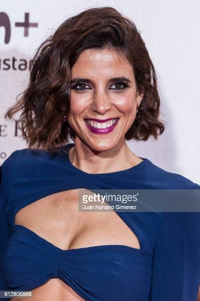 Maria Luisa Mayol attends 'El Cuaderno De Sara' premiere at the Capitol cinema on January 31 2018 in Madrid Spain