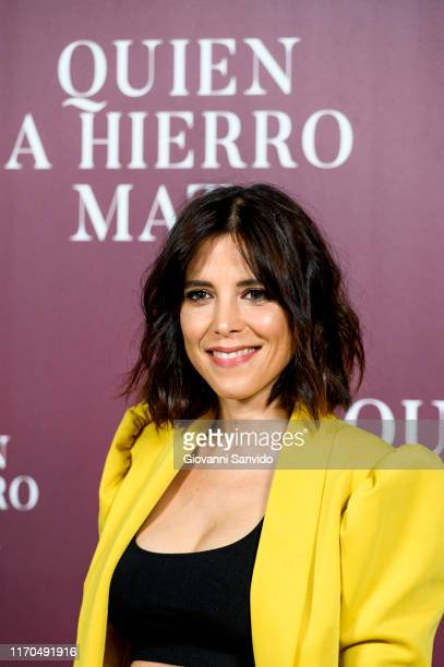 Maria Luisa Mayol attends 'Quien A Hierro Mata' photocall on August 27 2019 in Madrid Spain
