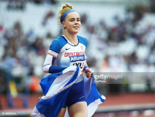 Maria Lyle of Great Britain after Women's 100m F35 Final during World Para Athletics Championships at London Stadium in London on July 19 2017