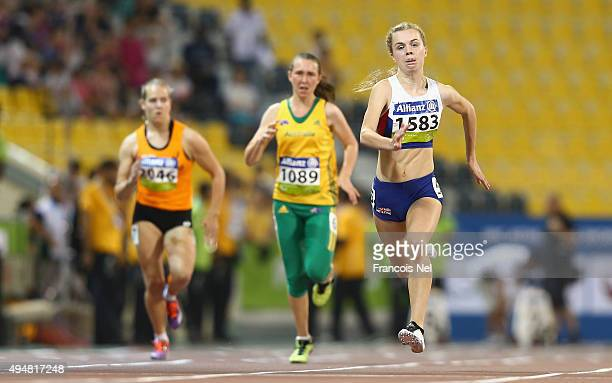 Maria Lyle of Great Britain competes in the women's 100m T35 final during the Evening Session on Day Eight of the IPC Athletics World Championships...