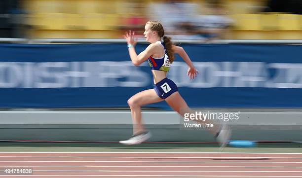 Maria Lyle of Great Britain competes in the women's 100m T35 heats during the Morning Session on Day Eight of the IPC Athletics World Championships...