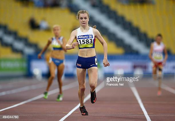 Maria Lyle of Great Britain competes in the women's 200m T35 final during the Evening Session on Day Three of the IPC Athletics World Championships...
