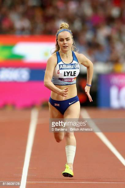 Maria Lyle of Great Britain competes in the Women's 200m T35 Final during Day Three of the IPC World ParaAthletics Championships 2017 London at...